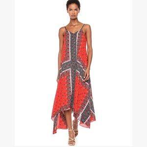NANETTE LEPORE Scarf Print Asymmetrical Dress 8